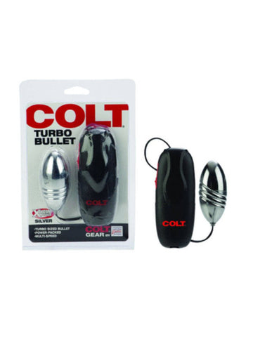 Colt Turbo Bullet - Silver - Powerful Multi Speed Bullet with Controller