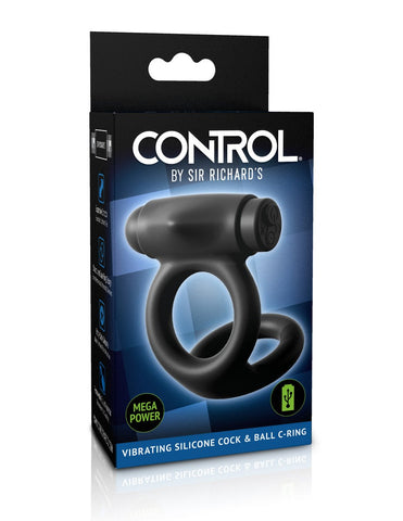 CONTROL by Sir Richards Vibrating Silicone Rechargeable Cock Ball Penis Ring