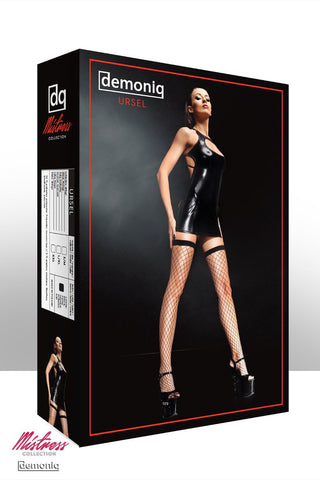 Demoniq Ursel Black Dress & Thong L/XL
