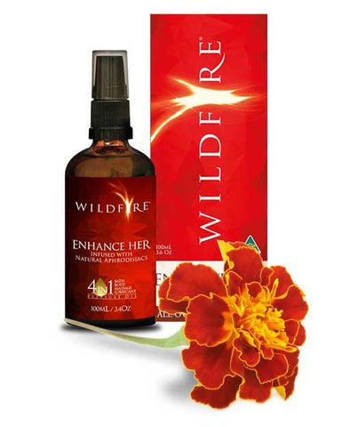 Wildfire 4 in 1 All Over Pleasure Oil - Enhance Her - 100ml