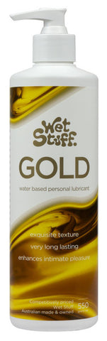 Wet Stuff Gold Pump - Water Based Lubricant with Vitamin E - 550g