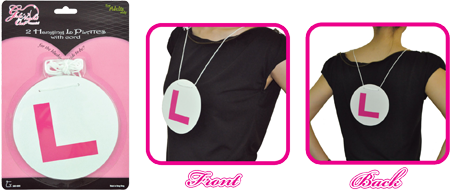 Girls Night Out 2 Hanging L Plates  Hens Night Accessory