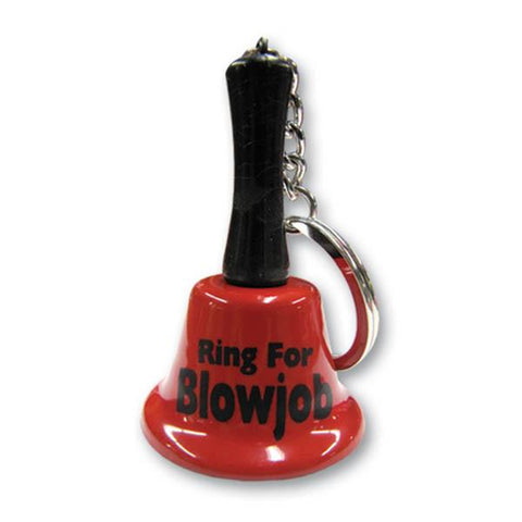 Ring For Blowjob Keychain Mini Bell