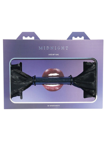 Midnight Lace Bit Gag - Black One Size Gag