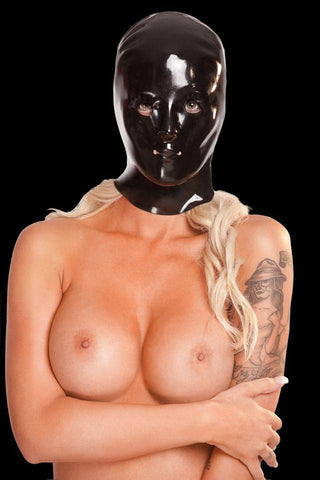Saxenfelt Rubber Latex Ladies Hood - Black