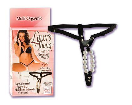 California Exotics Lover's Thong with Pleasure Pearls