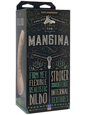 The Mangina - 3 Toys in 1 - Textured Stroker With Vaginal Opening/Penis Extension/Realistic Dildo