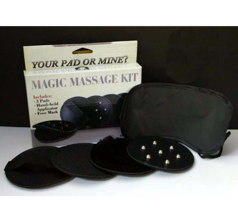 Handheld Magic Massage Kit With Blindfold - Black
