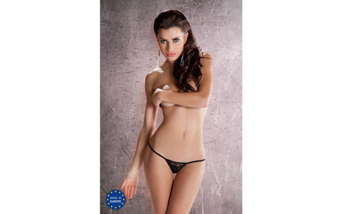 Passion Lingerie Micro Thong 18 - Black OS