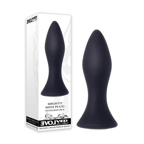 Evolved Mighty Mini Anal Plug Black 8.9 cm (3.5'') USB Rechargeable & Waterproof
