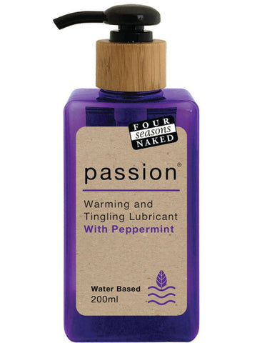 Four Seasons Passion Lubricant 200ml - Peppermint