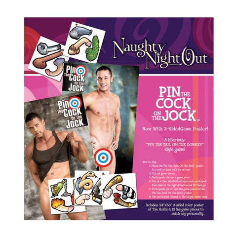 Naughty Night Out - Pin the Cock on the Jock Game