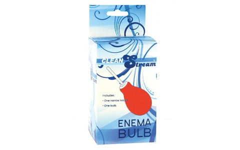 Clean Stream Anal Enema Bulb - Red