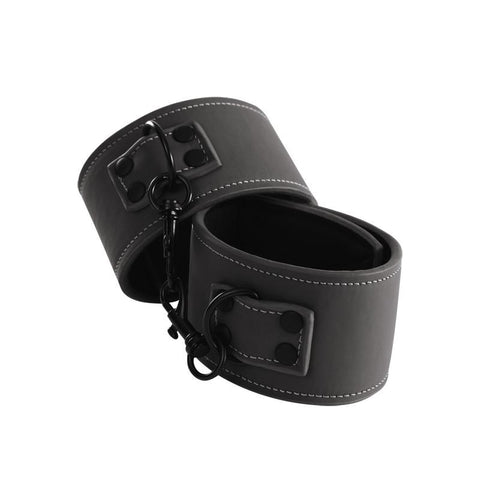 Renegade Bondage Ankle Cuffs Black Vinyl