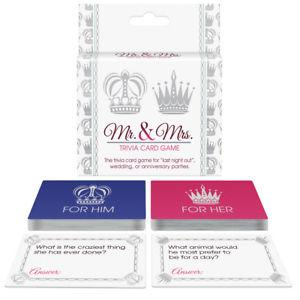 Mr. & Mrs. Trivia Card Game