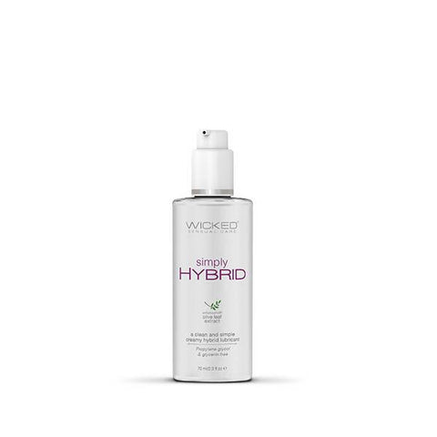 Wicked Simply Hybrid - Water & Silicone Blended Lubricant - 70mL
