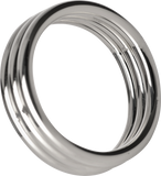 Master Series Echo Stainless Steel Triple Cockring (Silver)