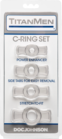 Titanmen Tools Cockring Set - Clear