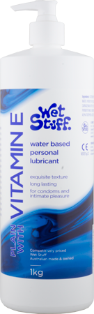 Wet Stuff Vitamin E Water Based Lubricant - Pump Bottle (1kg)
