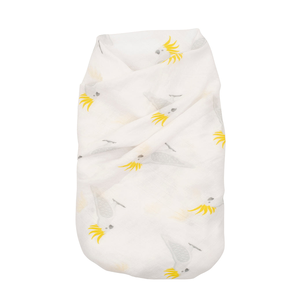 Proud Baby - Little Squawker Australian Cockatoo Muslin Swaddle