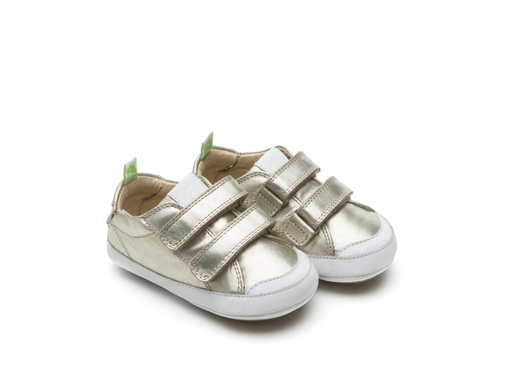 Tip Toey Joey - Bossy Shoes (White Gold / White)