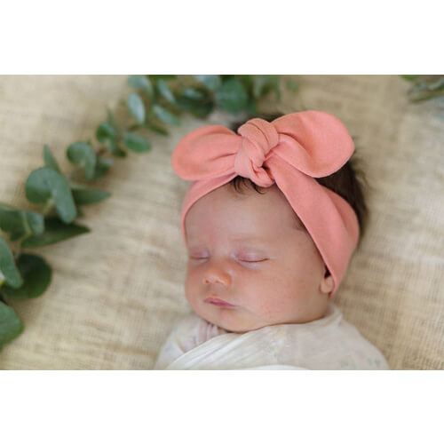 Snuggle Hunny Kids - Topknot Headband (Peach)