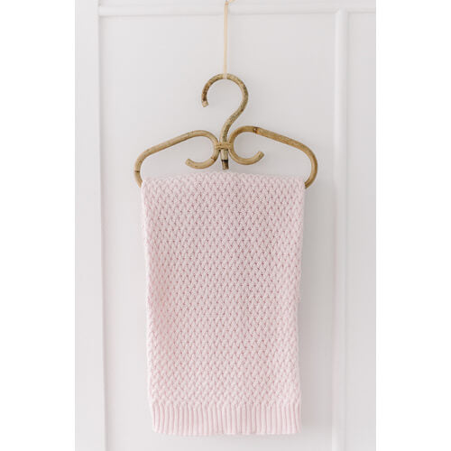 Snuggle Hunny Kids - Diamond Knit Baby Blanket (Blush Pink)