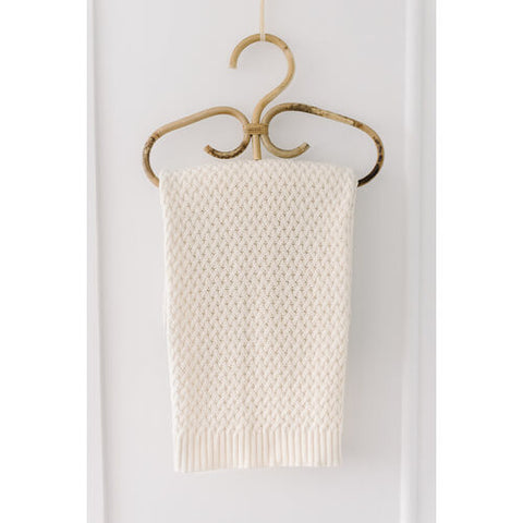 Snuggle Hunny Kids - Diamond Knit Baby Blanket (Cream)