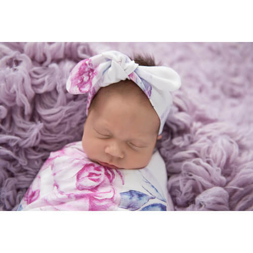Snuggle Hunny Kids - Topknot Headband (Lilac Skies)