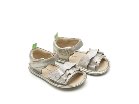 Tip Toey Joey - Windy Originals Sandals (White Gold / Golden Lace)