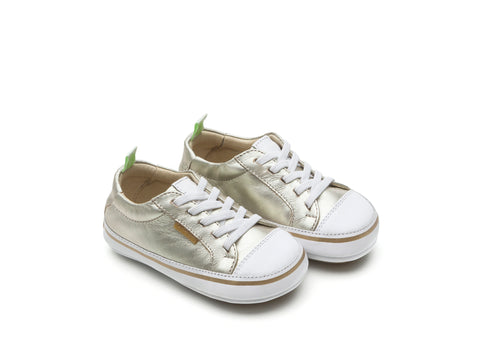 Tip Toey Joey - Funky Sneakers (White Gold / White)