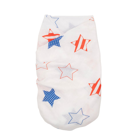 Proud Baby - Little Stars & Stripes USA Muslin Swaddle