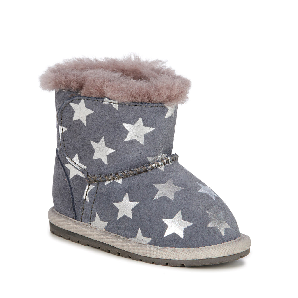 EMU Australia - Toddle Starry Night Babies Deluxe Wool Boot (Charcoal)