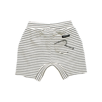 Load image into Gallery viewer, Rock Your Baby - Cream/Black Stripe Baby Shorts