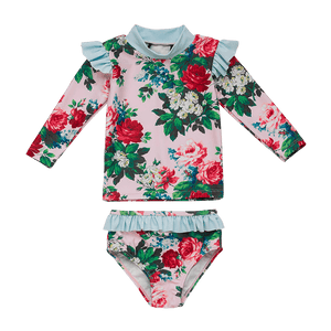 Rock Your Baby - Cottage Garden Baby Long Sleeve Rashie Set