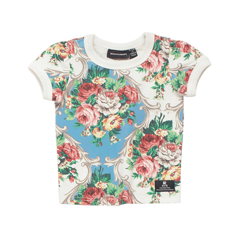 Rock Your Baby - French Chintz Baby Short Sleeve T-Shirt