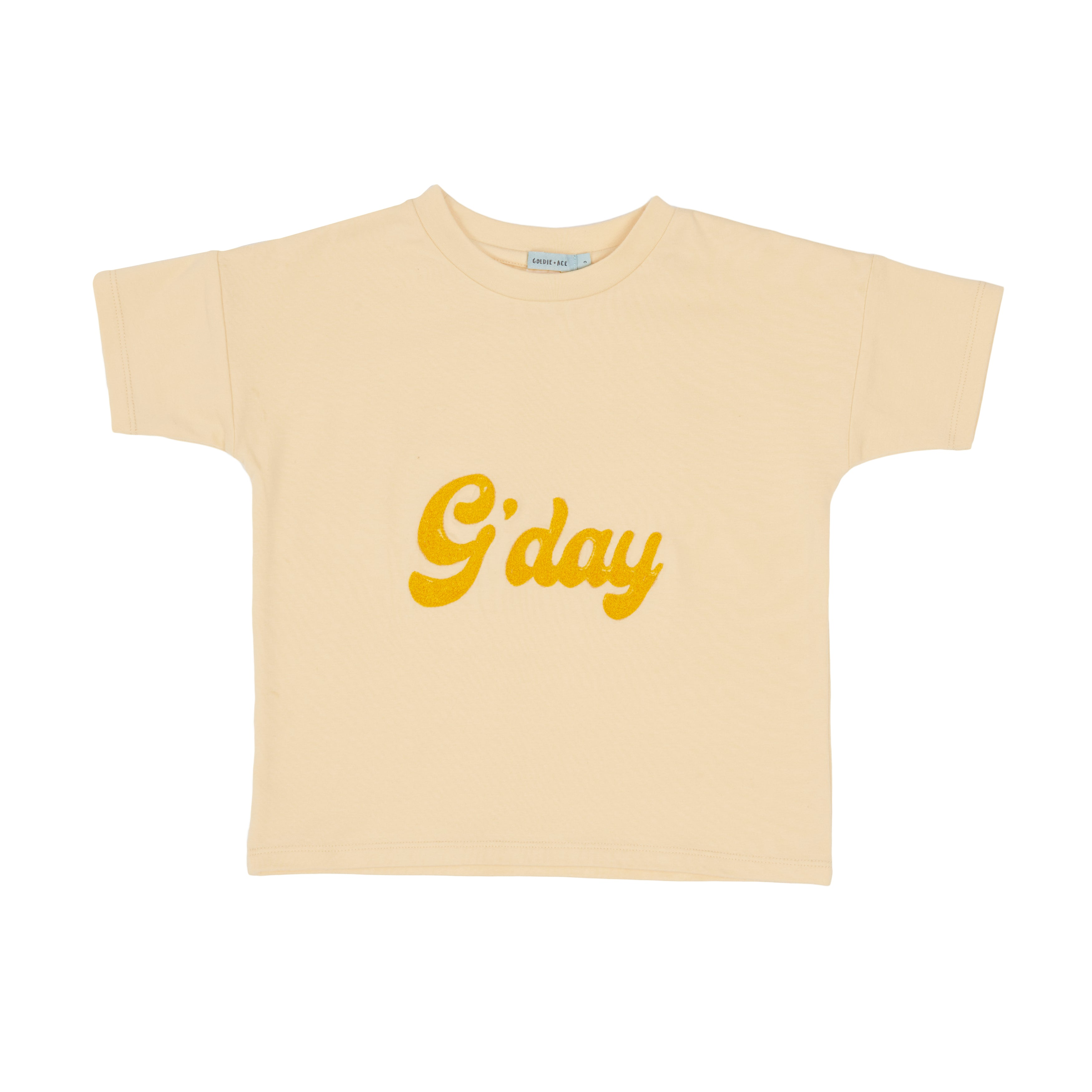 Goldie + Ace - G'Day Cotton T-Shirt (Blush)