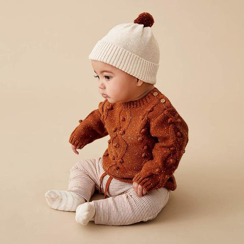 Wilson & Frenchy - Toasted Pecan Knitted Jumper with Baubles