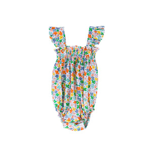 Peggy - Edie Playsuit Multi bright coloured floral