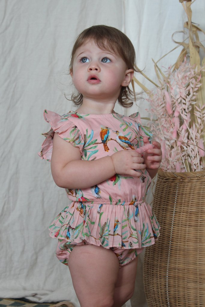 Bella + Lace - Dot Romper (Ballet Slipper)