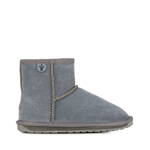 EMU Australia - Wallaby Mini Kids Deluxe Wool Boot (Charcoal)
