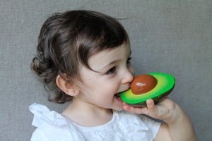 Oli & Carol - Arnold The Avocado Natural Rubber Teether Toy