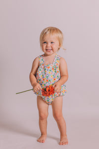 Peggy - Jane Playsuit Multi bright coloured floral