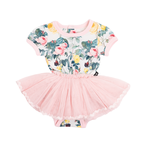 Rock Your Baby - A Rose Is A Rose Short Sleeve Circus Dress (Baby)
