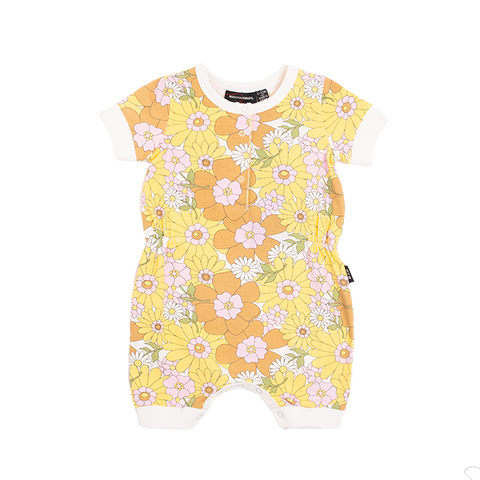 PRE-ORDER Rock Your Baby - Flower Power Playsuit