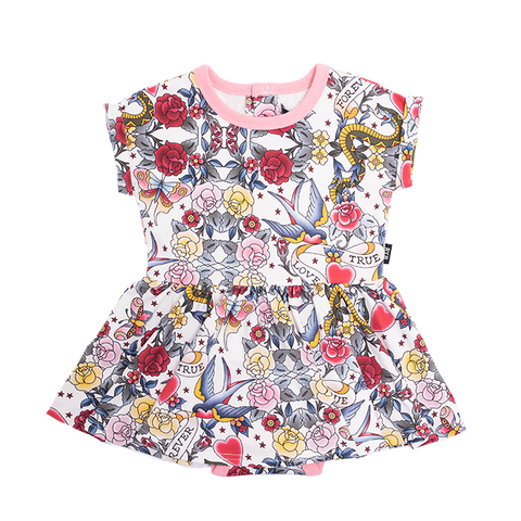 Rock Your Baby - Forever Waisted Dress (Baby Girls)