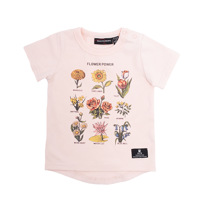Rock Your Baby - Full Bloom T-Shirt (Baby Girls)