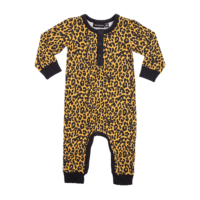 Rock Your Baby - Leopard Skin Long Sleeve Playsuit