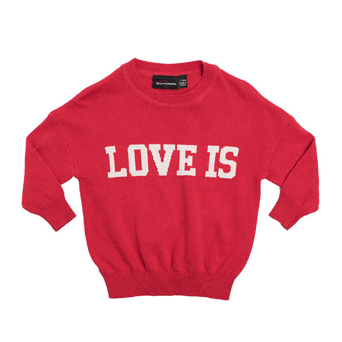 Rock Your Baby - Love Is Long Sleeve Knit Pullover