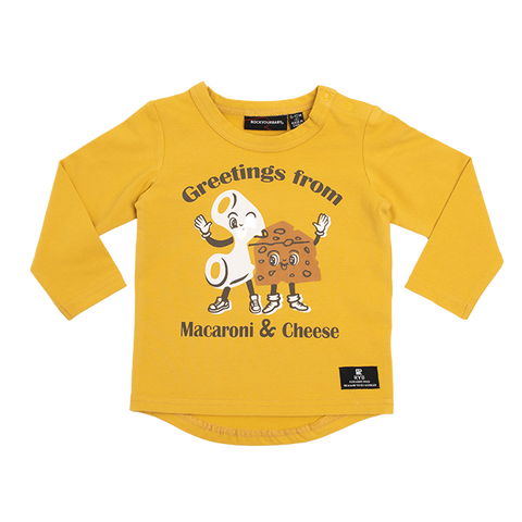 Rock Your Baby - Mac & Cheese LS Baby T-Shirt